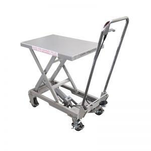 BSA10 alumīnija / manuāls šķērveida nerūsējošā tērauda pacelšanas galds